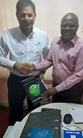 Mr. Syl-Brains of Sierra Leone's EPA welcomes AGE International Strategist Mr. Shahid Iqbal.