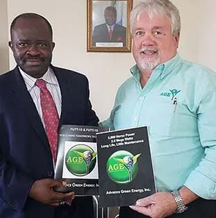 AGE CEO PM Barbee with Deputy Ambassador to the United States of America Republic of Sierra Leone.